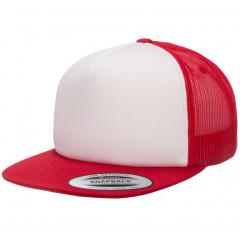 Кепка FlexFit 6005FW NO FOAM Trucker Red/White/Red